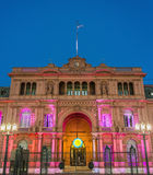 Casa Rosada-Gebäude in Buenos Aires, Argentinien. Stockfotografie