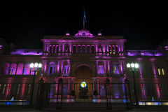 Casa Rosada at night Stock Photo