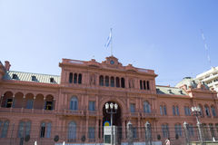 Casa Rosada (Pink House). Presidential Palace of Argentina. May Square, Buenos Aires Royalty Free Stock Photography