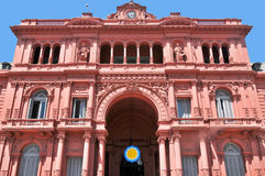 Casa Rosada. (pink house) Buenos Aires Argentina.La  is the official seat of the executive branch of the government of Argentina royalty free stock photos