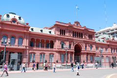 Casa Rosada (pink house) Stock Photos