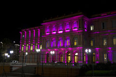 Casa Rosada (Pink House) by night Stock Images