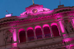The Casa Rosada (The Pink House) Royalty Free Stock Photos