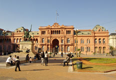 Casa Rosada, the presidential house in Argentina. Royalty Free Stock Images