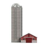 Casa rossa dell'azienda agricola royalty illustrazione gratis