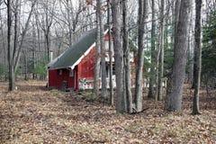 Casa rossa nel legno Immagine Stock Libera da Diritti