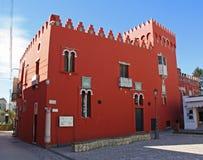 Casa rossa Rossa della Camera Immagini Stock
