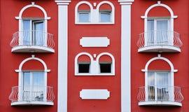 Casa rossa unica di Medio Evo fotografia stock libera da diritti