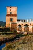 Casa Rossa Ximenes in Toscana, Italia Immagine Stock