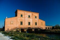 Casa Rossa Ximenes in Toscana, Italia Immagini Stock