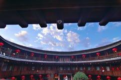 Casa rotonda di hakka in Cina fotografia stock libera da diritti