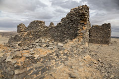 Casa rovinata nel deserto Fotografia Stock