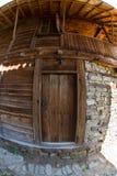 Casa rural búlgara del inicio de sesión Foto de archivo