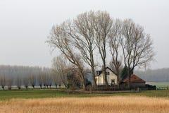 Casa rural da exploração agrícola da sagacidade da paisagem Imagens de Stock
