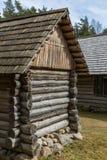 Casa rural de madera vieja Imagenes de archivo