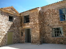 Casa rural de piedra foto de archivo libre de regalías