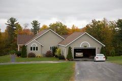 Casa rural na folha Fotografia de Stock Royalty Free