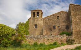 Casa rurale con una torre e le campane Immagine Stock Libera da Diritti