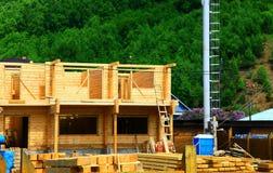 Casa rurale in costruzione Immagini Stock Libere da Diritti