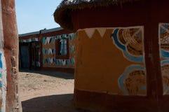 Casa rurale del fango nel Sudafrica Fotografie Stock