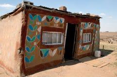 Casa rurale del fango nel Sudafrica Immagini Stock Libere da Diritti
