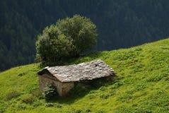 Casa rurale della montagna Immagine Stock Libera da Diritti