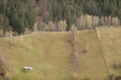 Casa rurale nella contea di Brasov, la Transilvania, Romania Fotografia Stock Libera da Diritti