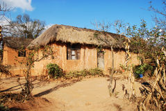 Casa rurale in Pomerini in Tanzania - in Africa Fotografia Stock Libera da Diritti