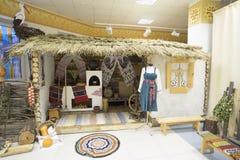 Casa rusa, interior Museo y centro de exposición Langepas imágenes de archivo libres de regalías