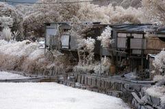 Casa rustica misera fotografia stock