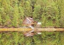 Casa só na floresta Fotos de Stock Royalty Free