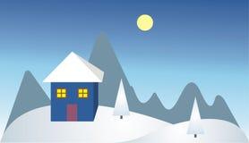 Casa só na montanha Fotografia de Stock Royalty Free