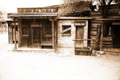 Casa salvaje del sheriff de los E.E.U.U. de la oeste-vendimia Foto de archivo libre de regalías