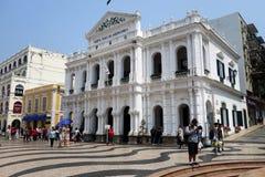 A casa santamente do museu da mercê em Macau fotografia de stock