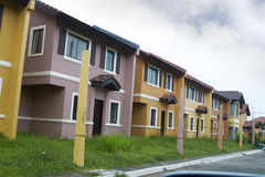 Casa a schiera di massa dell'alloggio Fotografia Stock