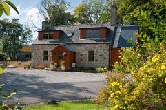 Casa scozzese del bene immobile Fotografia Stock