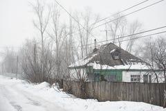 Casa scura del villaggio Immagini Stock