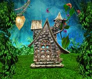 Casa secreta de los duendes Foto de archivo
