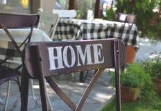 Casa, sedia, ristorante Fotografia Stock Libera da Diritti