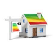Casa semplice di energia verde royalty illustrazione gratis