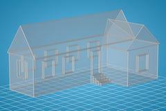 Casa semplice di stile Immagine Stock