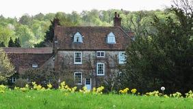 Casa senhorial inglesa do país imagens de stock