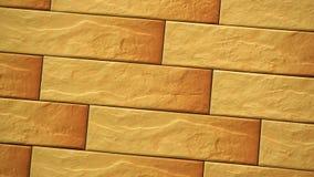 Casa senza cuciture decorativa del mattone di rotazione Fondo della muratura Figura blocco stock footage
