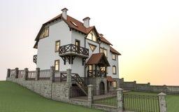 Casa separada costosa Imagen de archivo libre de regalías