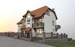 Casa separada costosa Imagenes de archivo