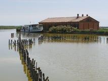 Casa Serilla do ` s dos pescadores das lagoas de Comacchio imagens de stock