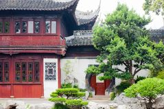 Casa shanghai do jardim de Yu imagem de stock