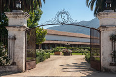 Casa Silva Winery. The entrance gate to Casa Silva winery in Colchagua Valley, Chile Stock Photos