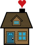 Casa simples dos desenhos animados Fotografia de Stock Royalty Free