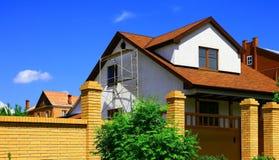 Casa sob a construção Foto de Stock Royalty Free